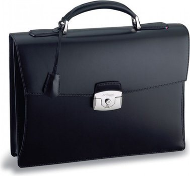 Line D Briefcase – Black Elysée
