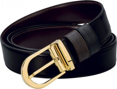 Line D Belt Business Reversible Delta Box Gold