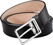 Line D Belt Black Diamond Leather