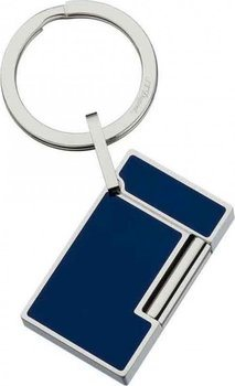 S.T. Dupont  Key Ring Line 2 - Lighter Stainless Steel And Blue Lacquer 3047