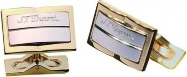 S.T. Dupont Palladium And Yellow Gold Cuff Links 5200