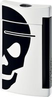 Minijet Lighter White With Black Skull