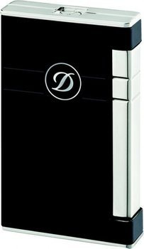 Ligne 2 Torch Lighter Black Lacquer And Palladium