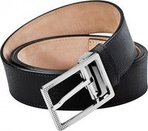 Line D Black Diamond Leather Belt