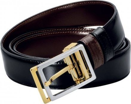 Line D Belt Business Reversible Rectangular Bicolor